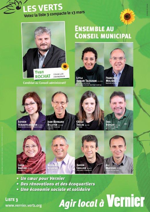 Affiche de Verts de Vernier 2011
